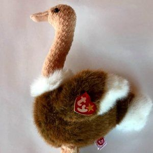 1998 Ty Ostrich 'Stretch' Plush Toy